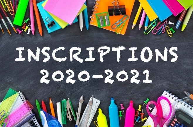 Inscriptions 2020 2021